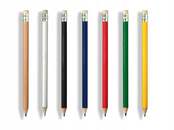 kolory ołówków drewnianych z gumką