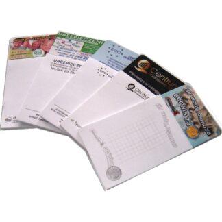 przykładowe notesy z magnesem