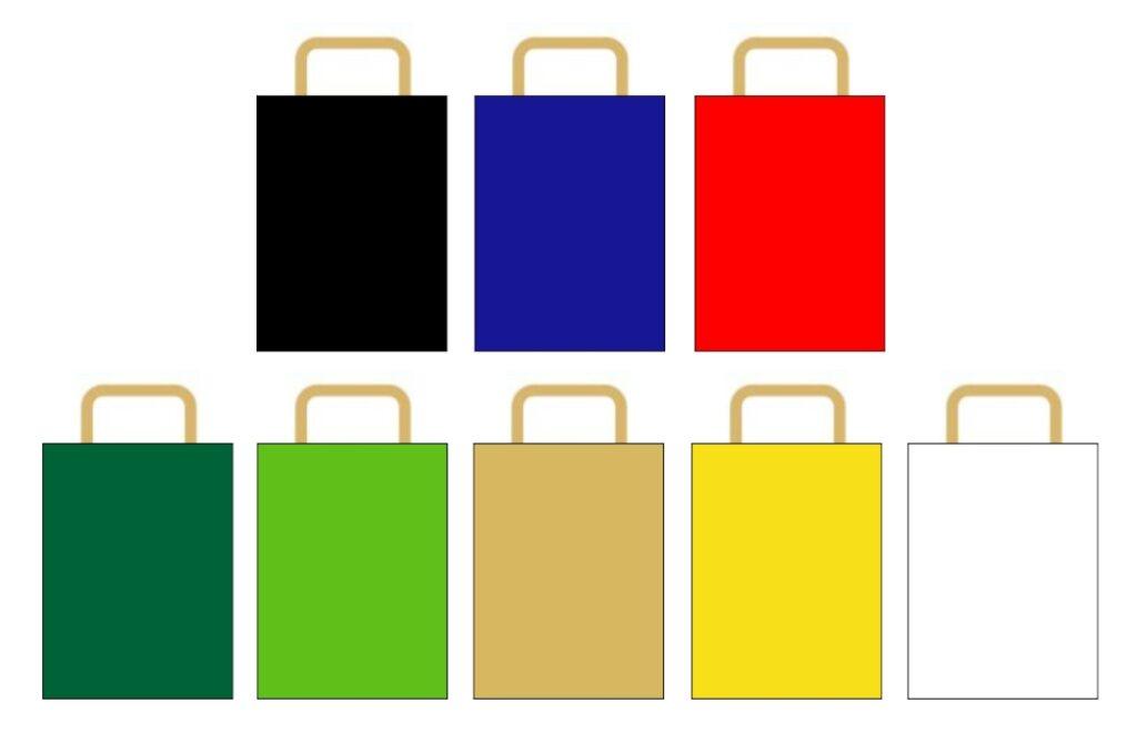 kolory toreb papierowych A4 z nadrukiem